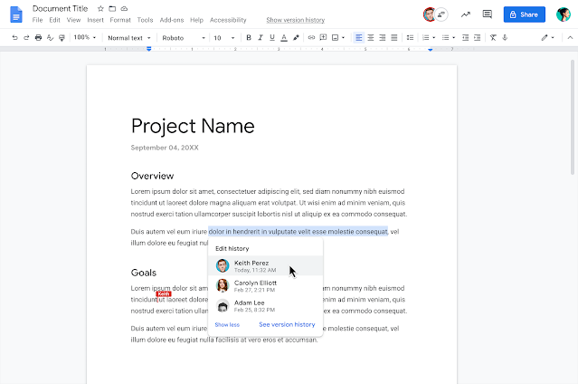 Google Doc editores
